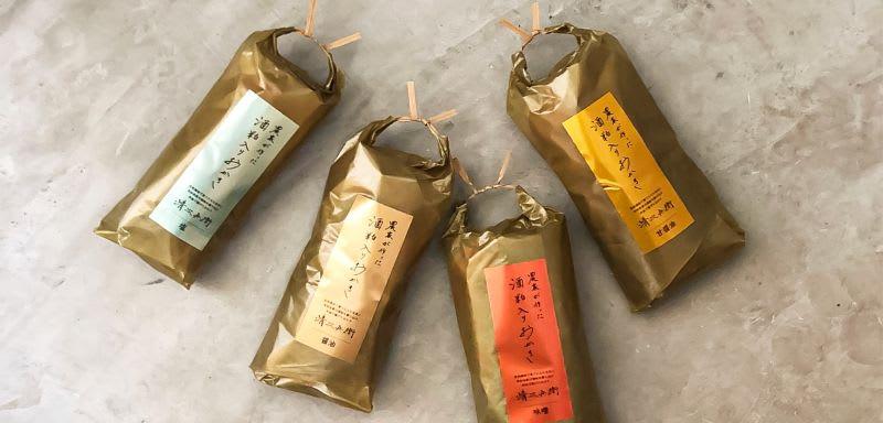 薄紙印刷事例:五代目森山清次兵衛 / おかきの包み紙