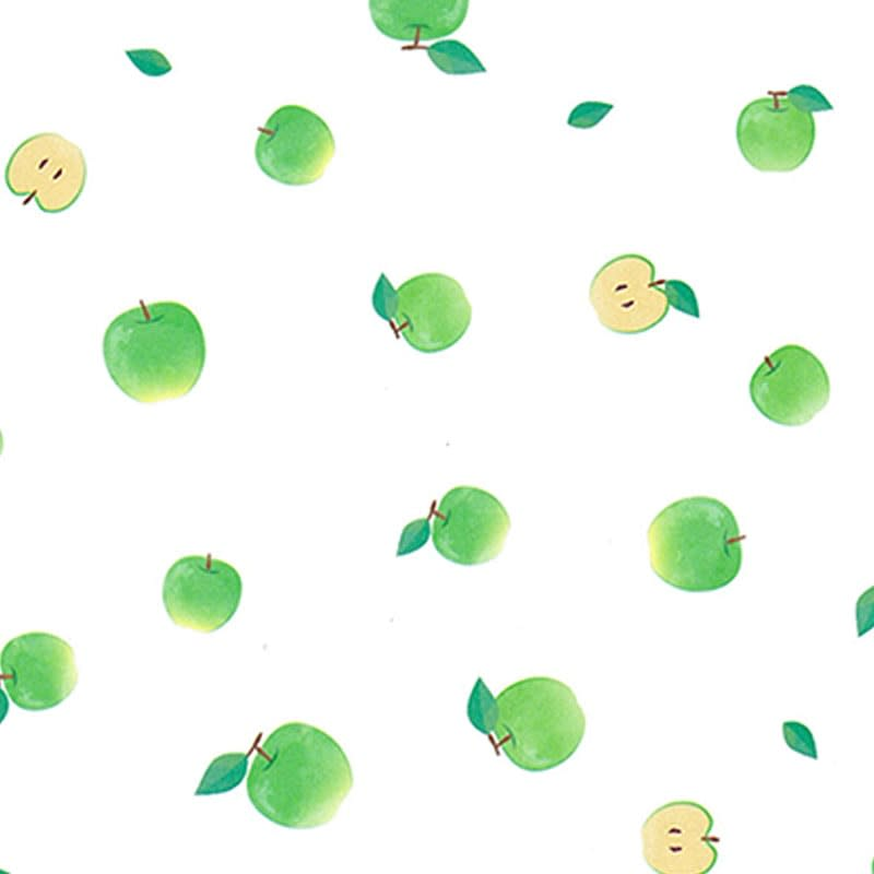グラシンデザインペーパー 青りんご柄