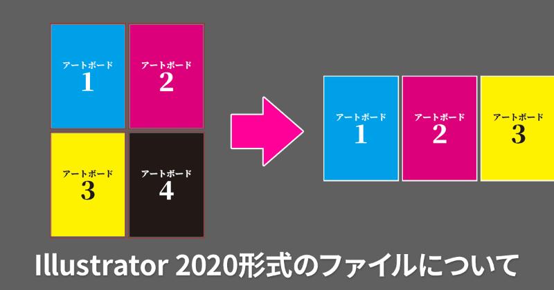 llustrator 2020形式のファイルを過去のバージョンのIllustratorで開くのは危険!