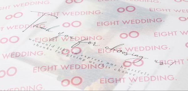 Eight wedding / 包装紙
