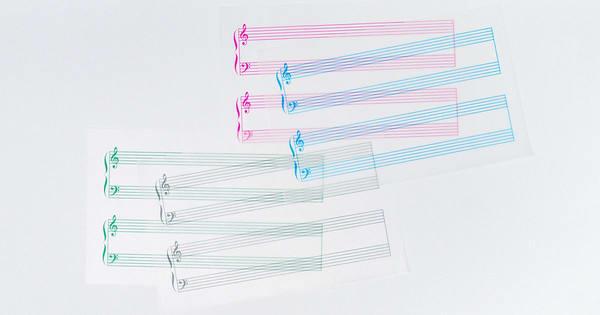グラシンミニ便箋 楽譜 / 160×100mm