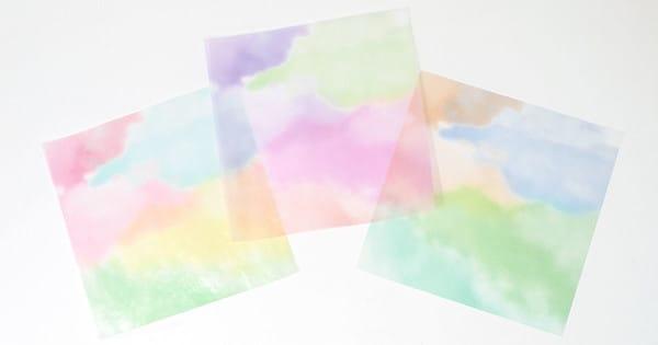 カラーグラシン 水彩風グラデーション / 150×150mm