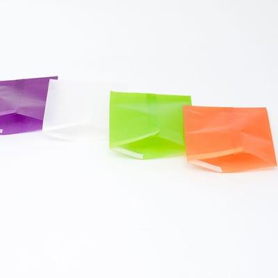グラシン紙でほんのり透ける三角パック - step5