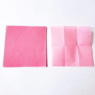 グラシン紙で手作り薔薇のコサージュ - step2