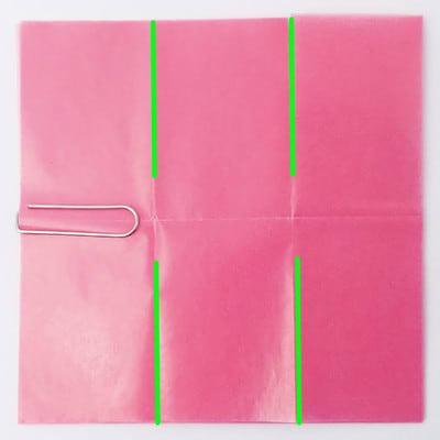 グラシン紙で手作り薔薇のコサージュ - step4