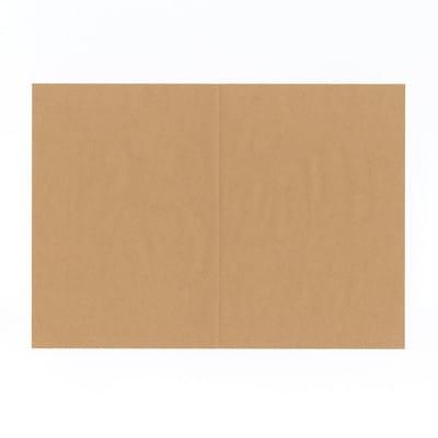 グラシン紙とクラフト紙の封筒ラッピング - step1