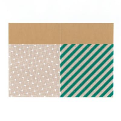 グラシン紙とクラフト紙の封筒ラッピング - step3