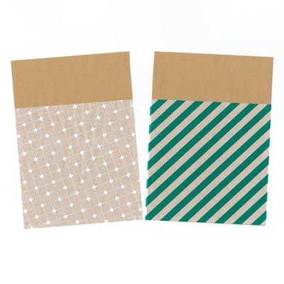 グラシン紙とクラフト紙の封筒ラッピング - step4