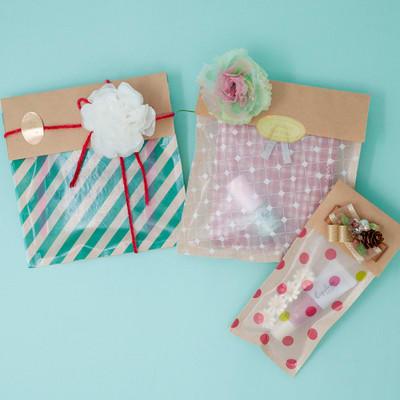 グラシン紙とクラフト紙の封筒ラッピング - step6