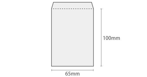 グラシン封筒 縦型ミニ 白 / 65×100mm