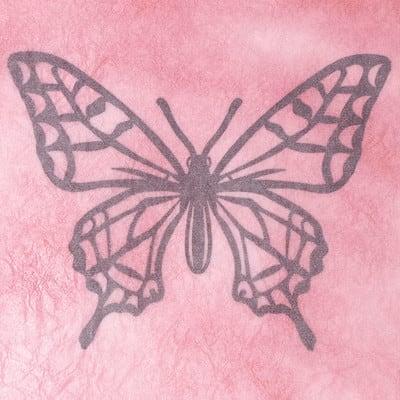 グラシン紙で色づけるカラー切り絵 - step2