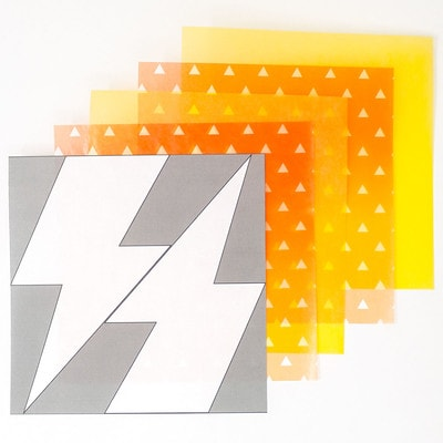 和柄グラシン紙の雷ラッピング - step2