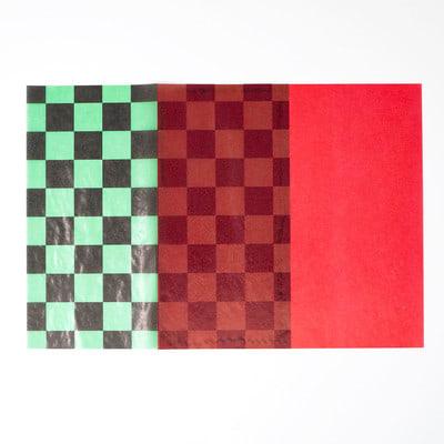 和柄グラシン紙のツートーン封筒 - step3