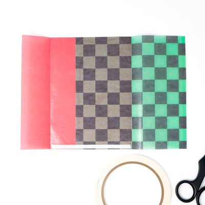 和柄グラシン紙のツートーン封筒 - step6