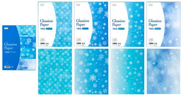 冬限定グラシン紙 雪結晶 / 175×235mm