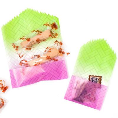 和柄グラシン紙の桜餅風ラッピング - step5