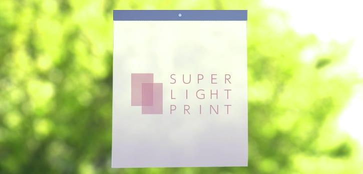 薄紙への加工:カレンダー製本