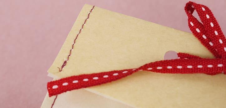 薄紙への加工:ステッチ(縫製)