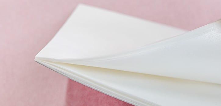 薄紙への加工:天糊製本(天糊綴じ)