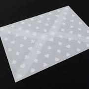 グラシン封筒にホワイトで印刷をしてみました