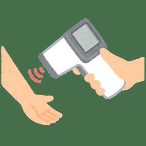 非接触体温計のイラスト(手)