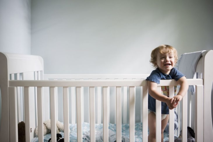 Upgrading the crib to a toddler bed