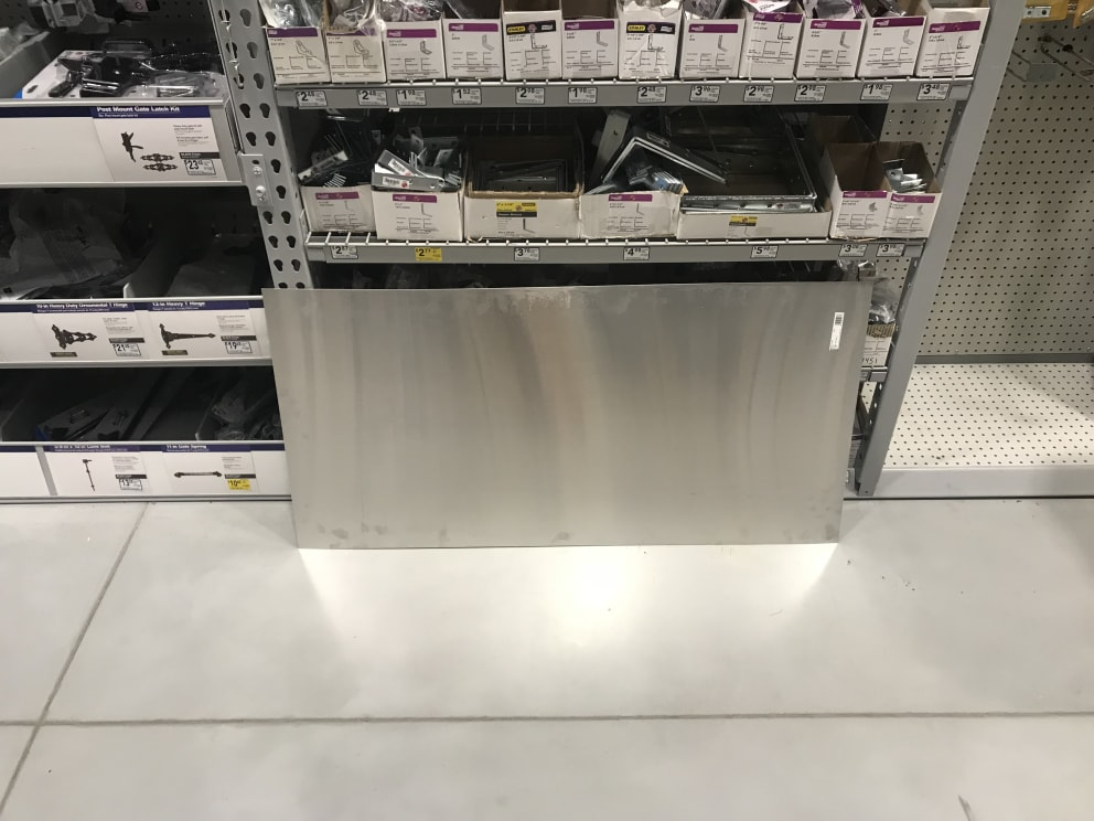 Sheet metal also in Lowes