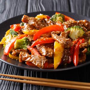 fitmeals - Rinder-Teriyaki mit bunten Paprika und Brokkoli
