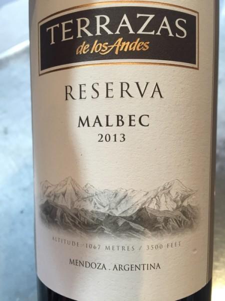 Terrazas De Los Andes Reserva Malbec 2013 Mendoza Argentina Delivered Yourgrocer