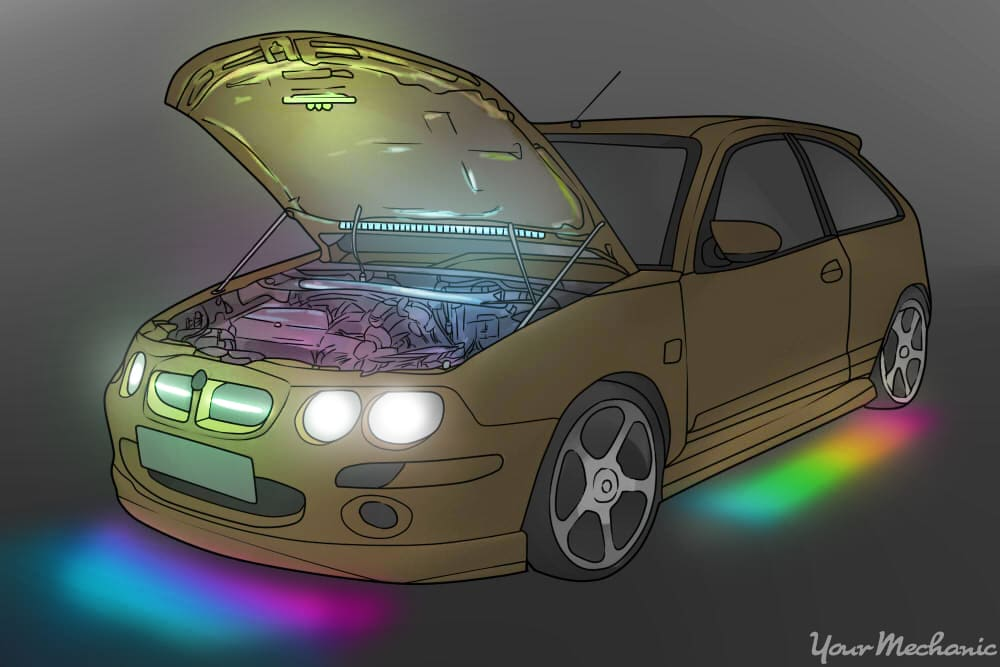 car with underglow madness