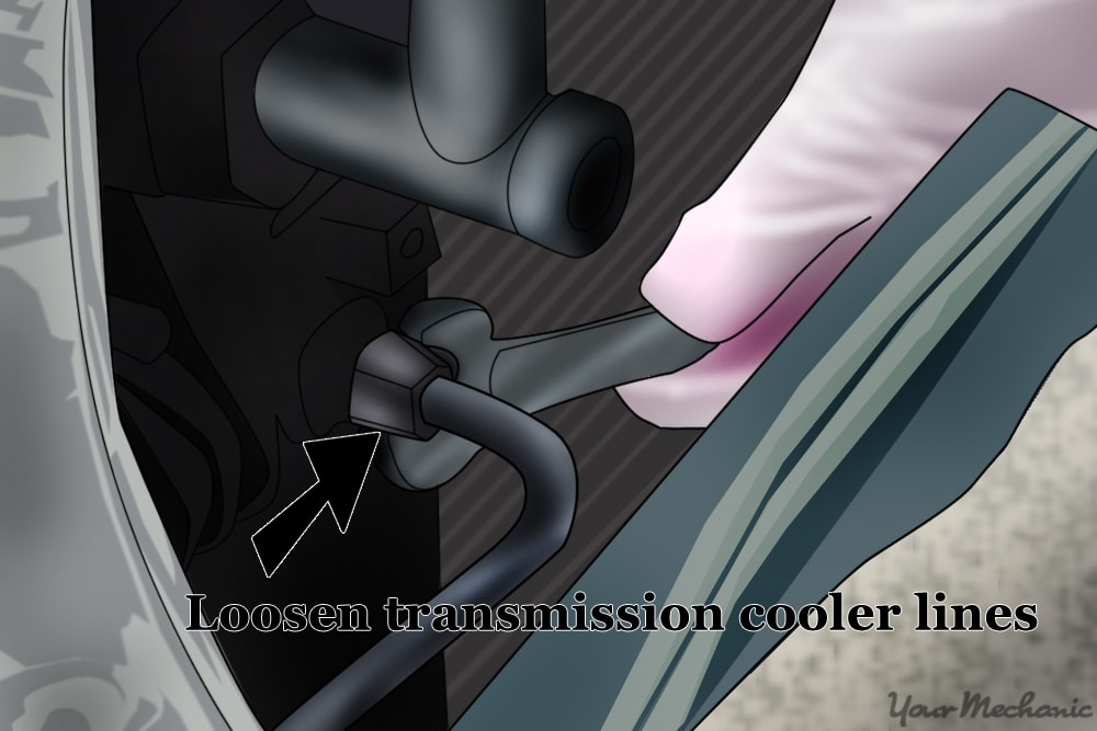 disconnecting the transmission cooler lines