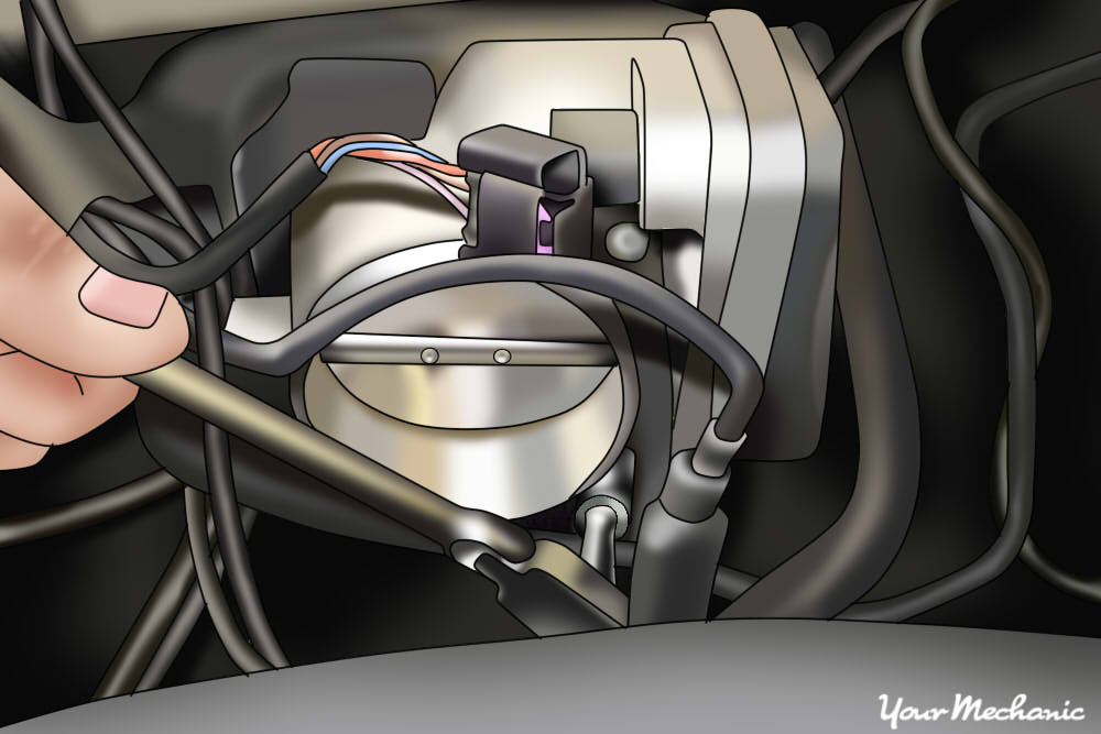 install the throttle body bolts