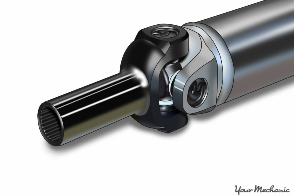slip yoke on output shaft