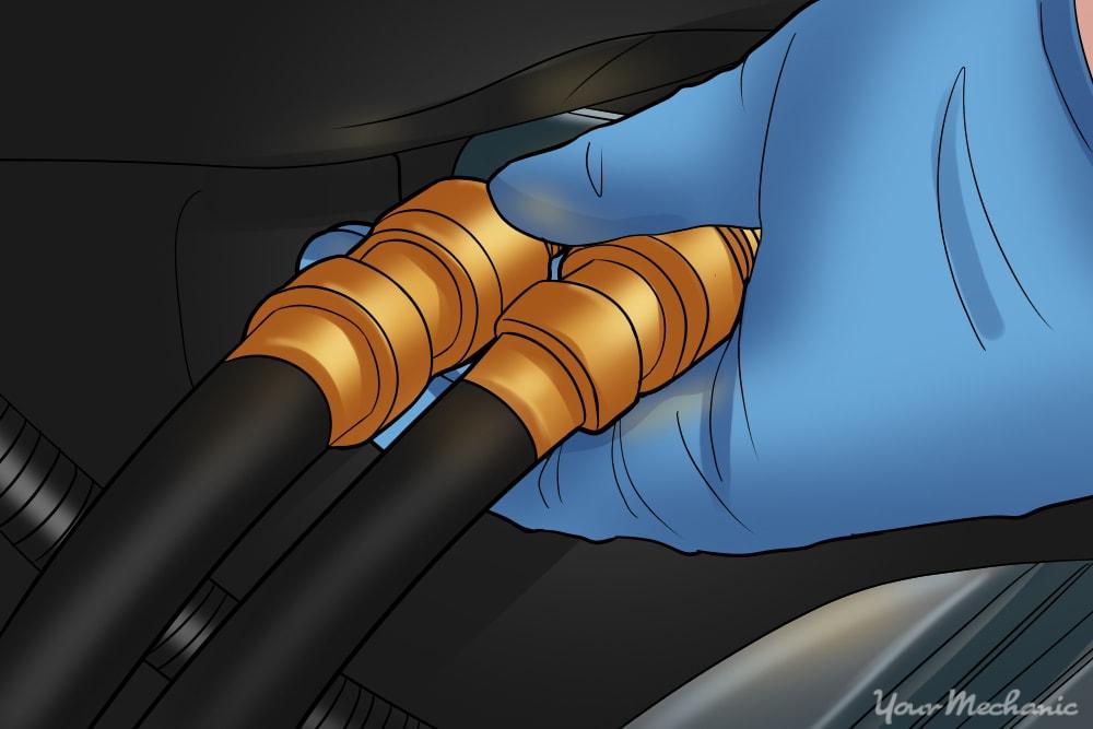 reinstalling heater core hoses