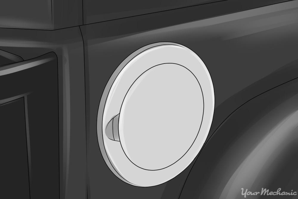 alloy fuel door