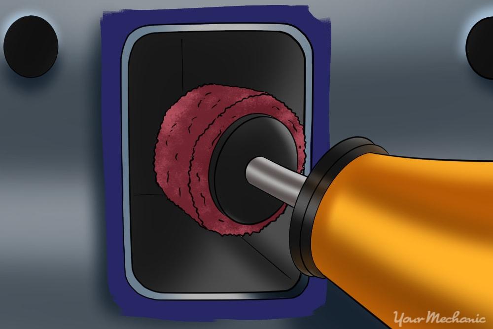 medium grit cross buffer polishing