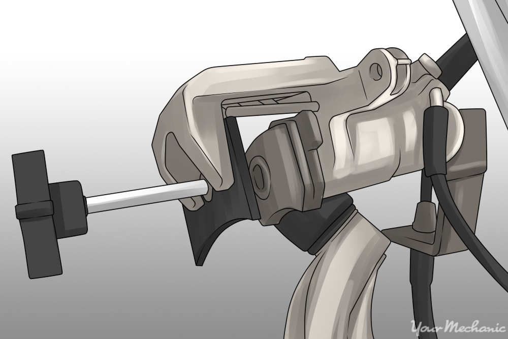 brake pistons being compressed