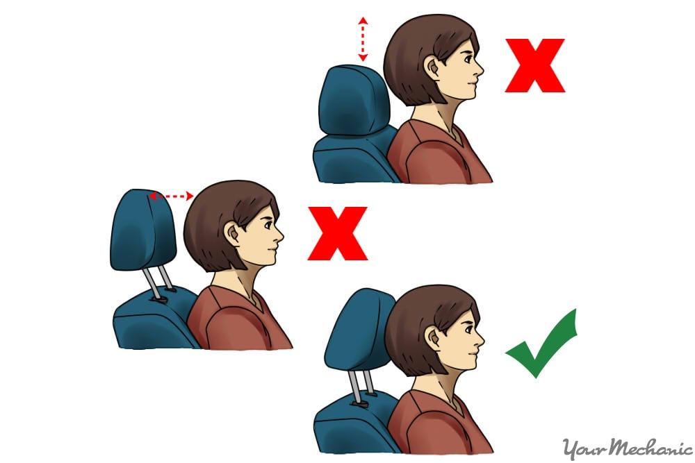 proper headrest position