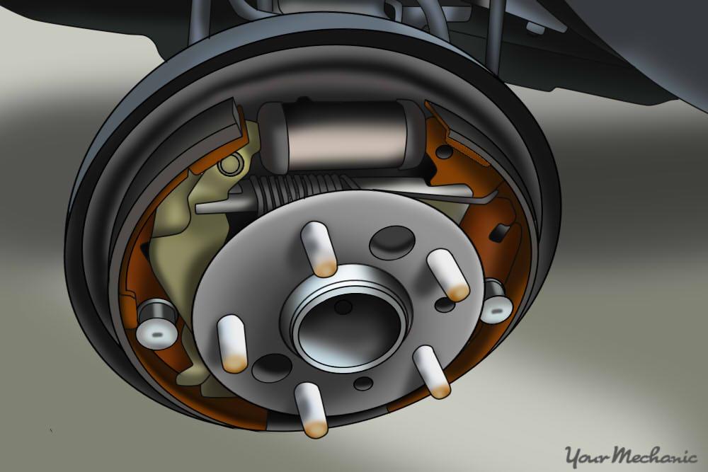 newly installed brake assembly