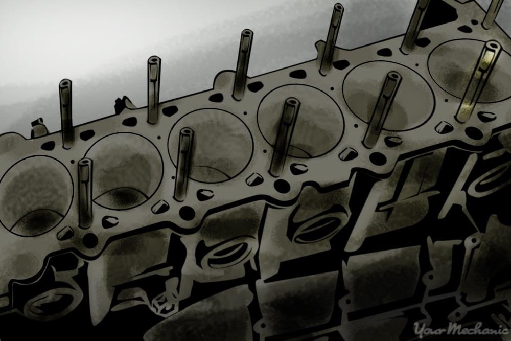 6 cylinder engine block assembly