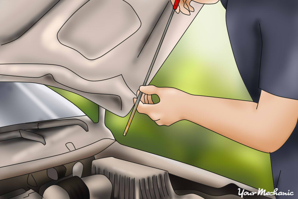 Checking oil level