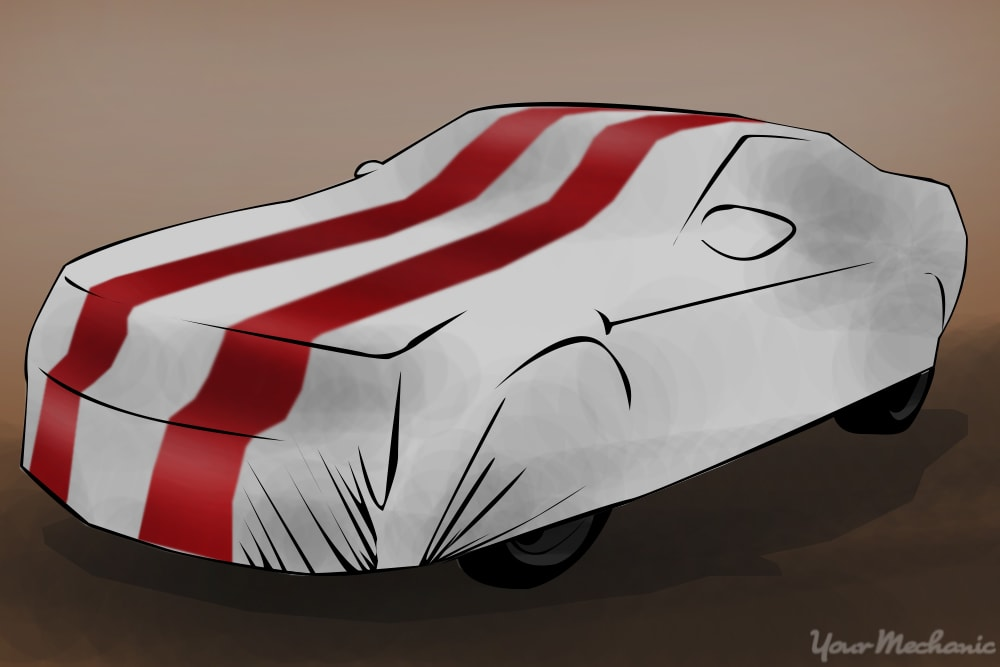car cover installed