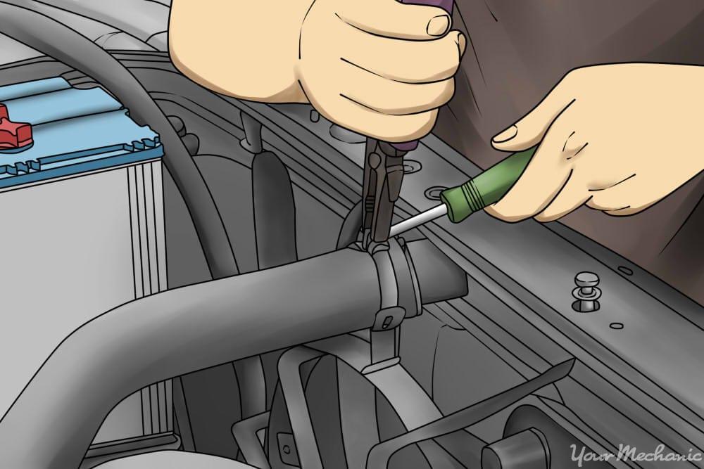 Radiator Hose Leak >> How To Replace A Radiator Hose Yourmechanic Advice