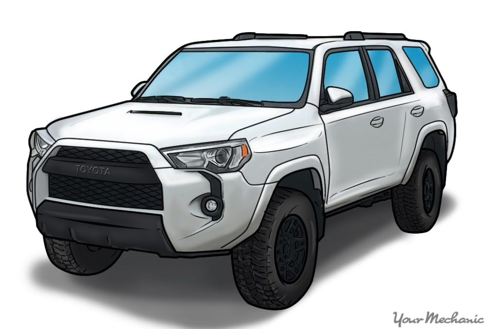 front view of toyota 4runner pro