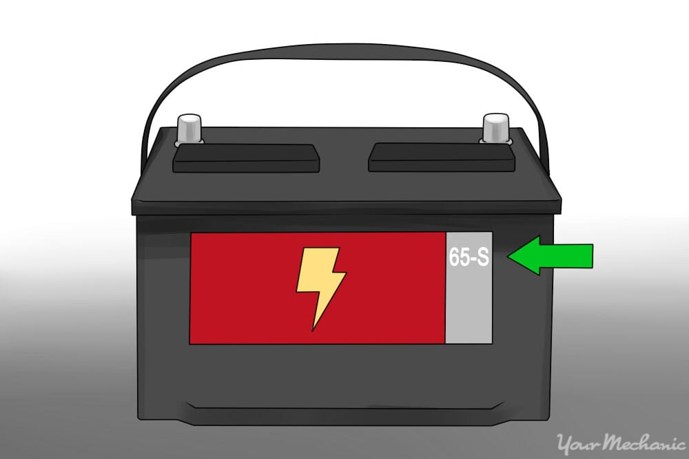 car battery with arrow pointed to 65S