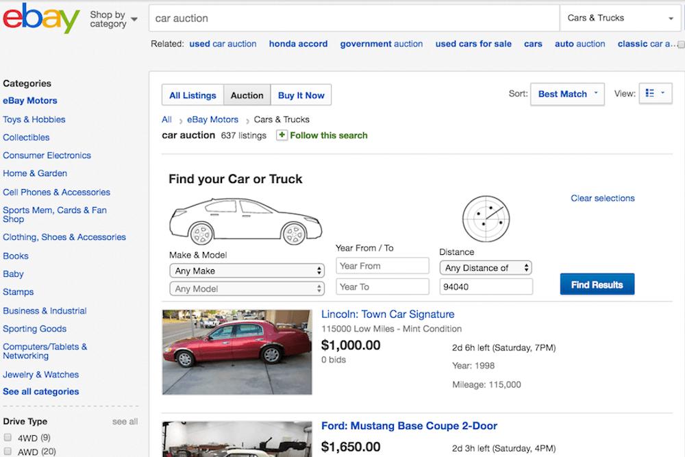 ebay car auction