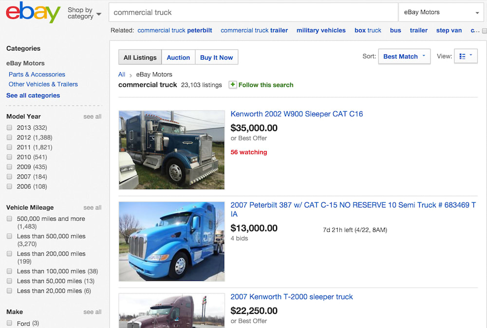 ebay site listings
