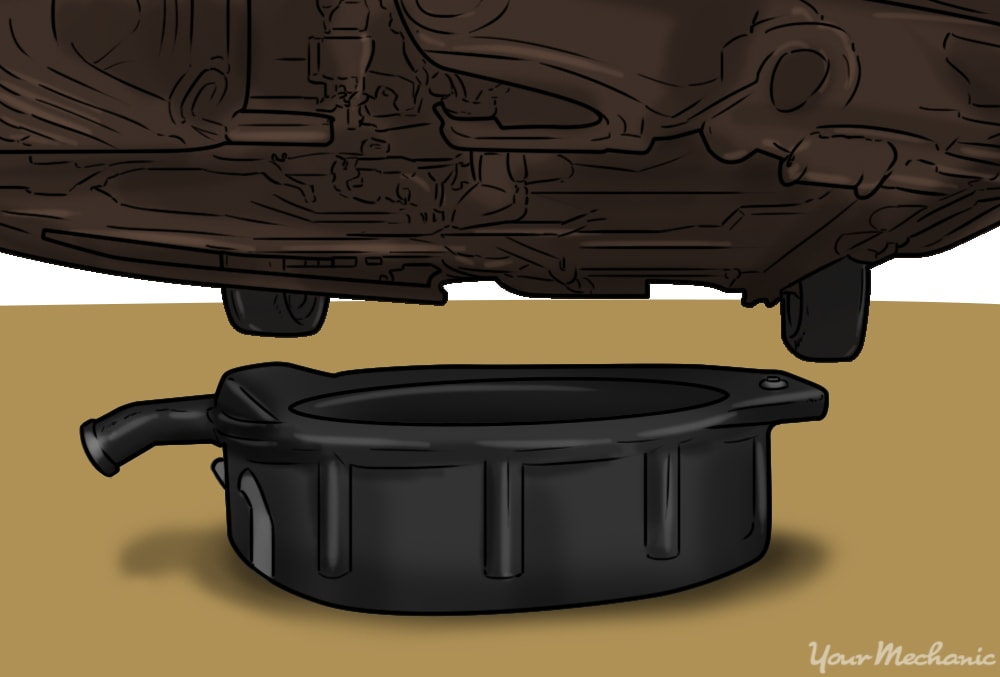 pan under the vehicle