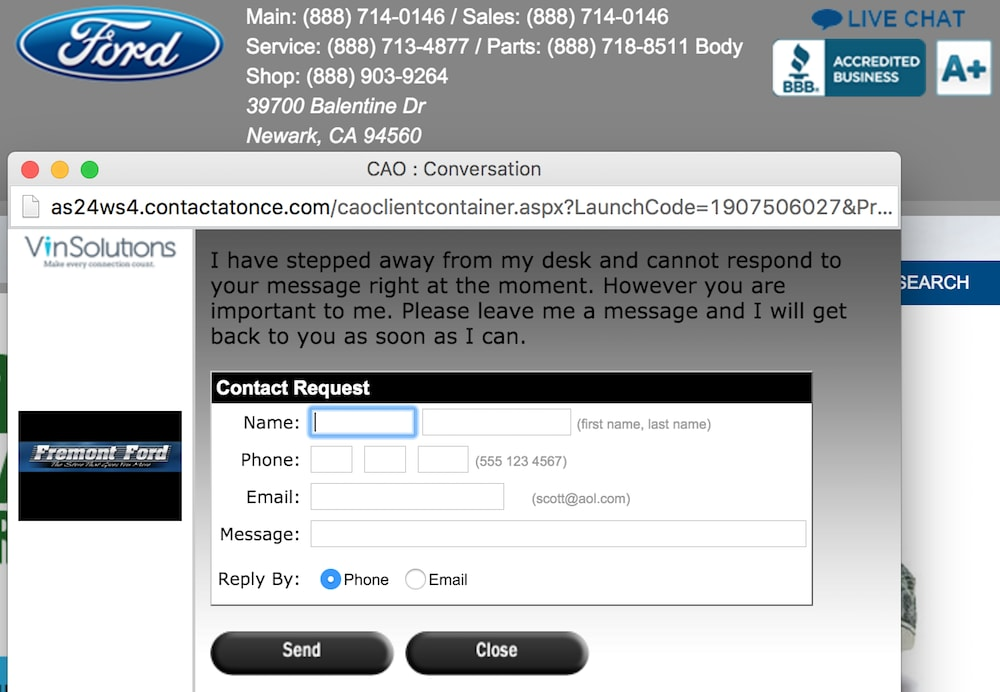 ford livechat