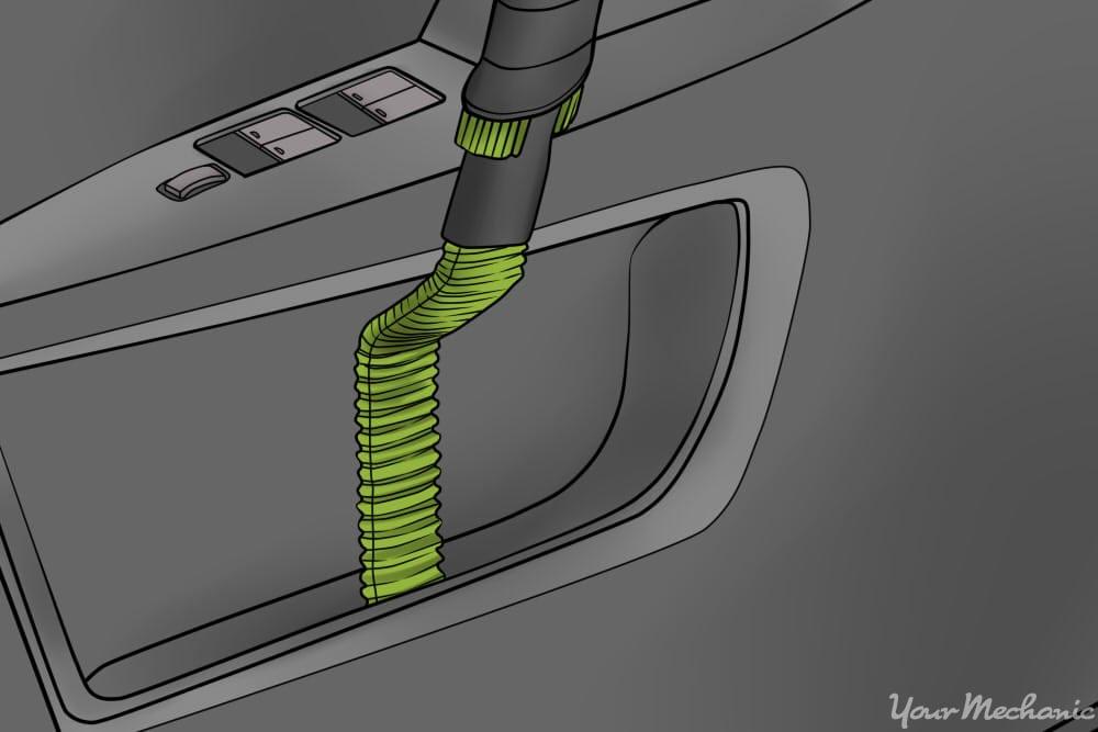 vacuum crevice tool cleaning door pocket